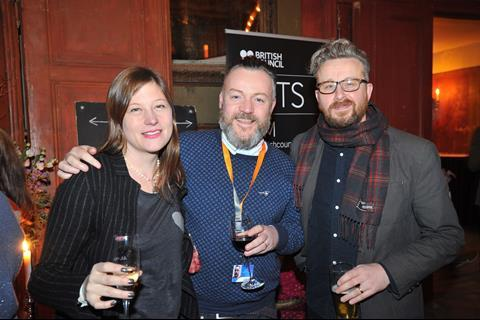 daisy allsop producer stuart wright britflicks podcast host and screenwriter ashley horner pinball films c theodore wood